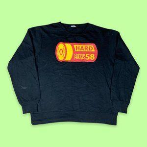 Graphic Print Black Sweatshirt